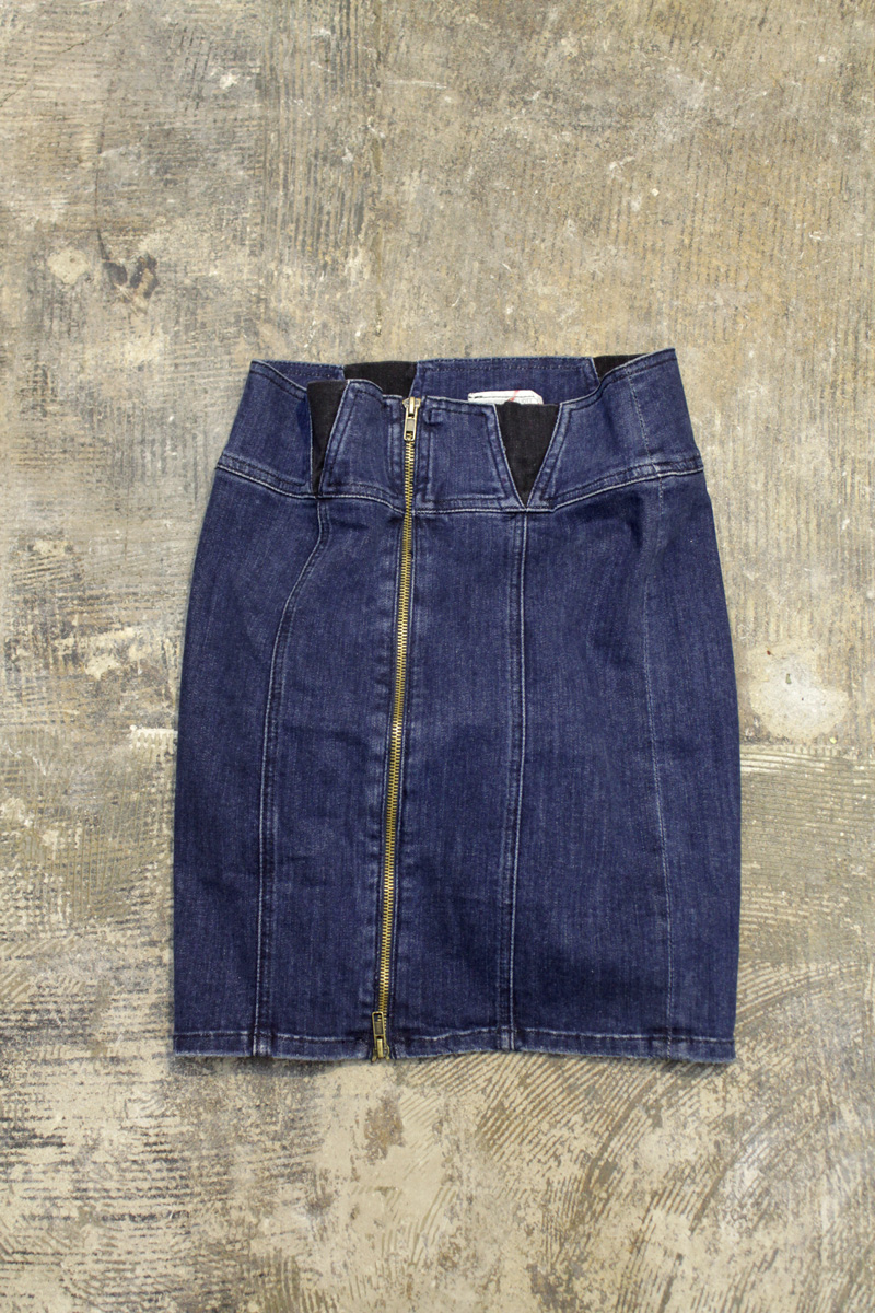 "CURRENT/ELLIOTT Zip Up Tight Skirt ""INDIGO"""