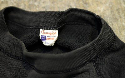 "Champion Vintage Sweat 50s Runners Tag ""Black Body"""