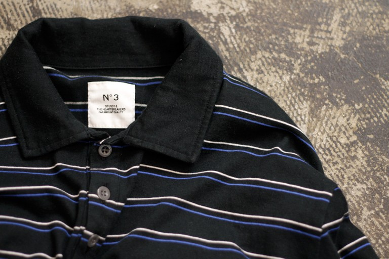 STUSSY × Bedwin & The Heartbreakers L/S  Border Polo Shirts