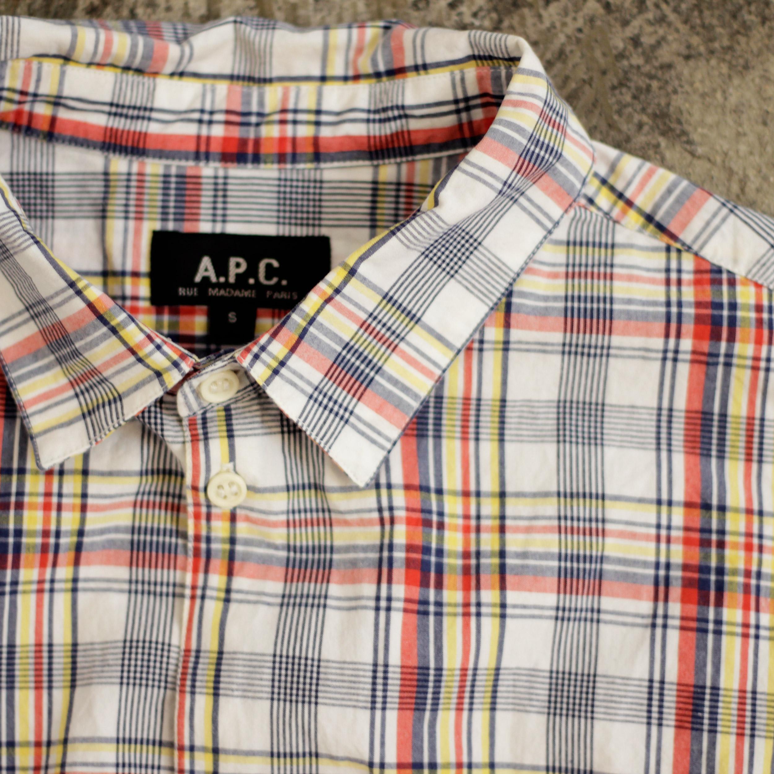 A.P.C. Madras Check Shirts