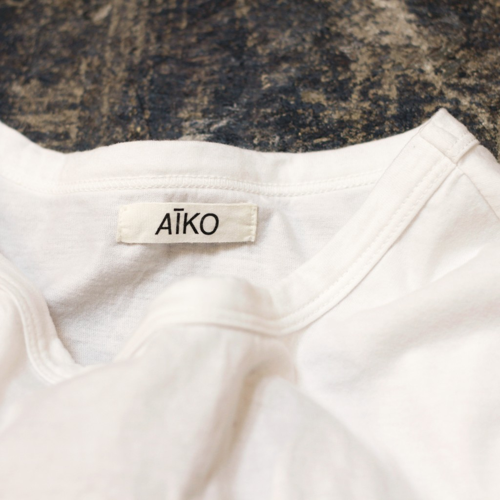 140614 AIKO White Color T-Shirts