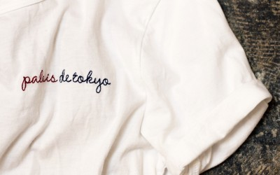 "AIKO White Color T-Shirts ""Palais de Tokyo"""