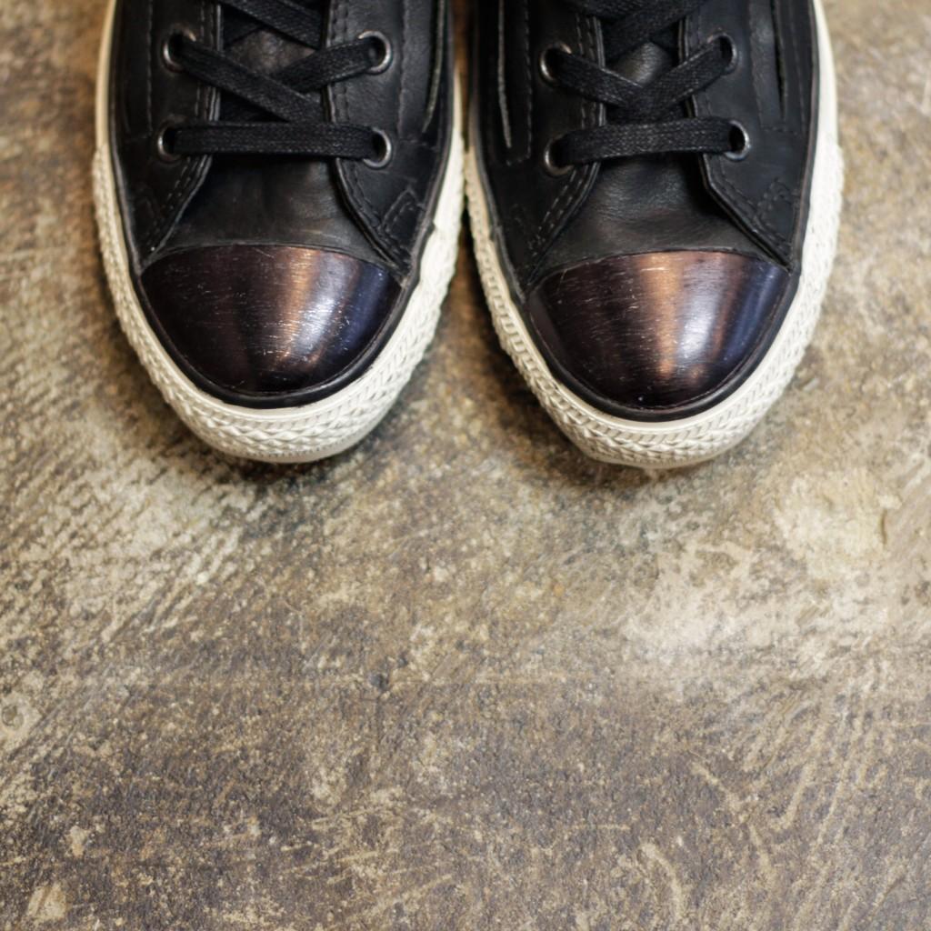 CONVERSE × John Varvatos  Leather Double Zip HI
