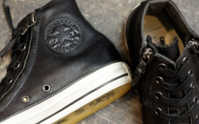 "CONVERSE × John Varvatos Chuck Taylor Double Zip ""Black Leather"""