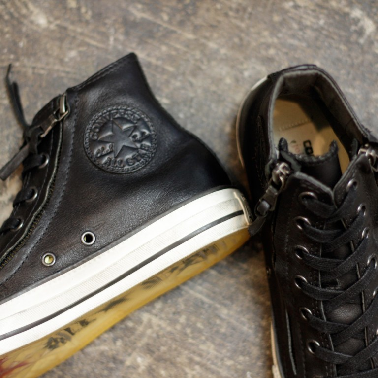 "CONVERSE × John Varvatos Chuck Taylor Double Zip ""Black Leather"""