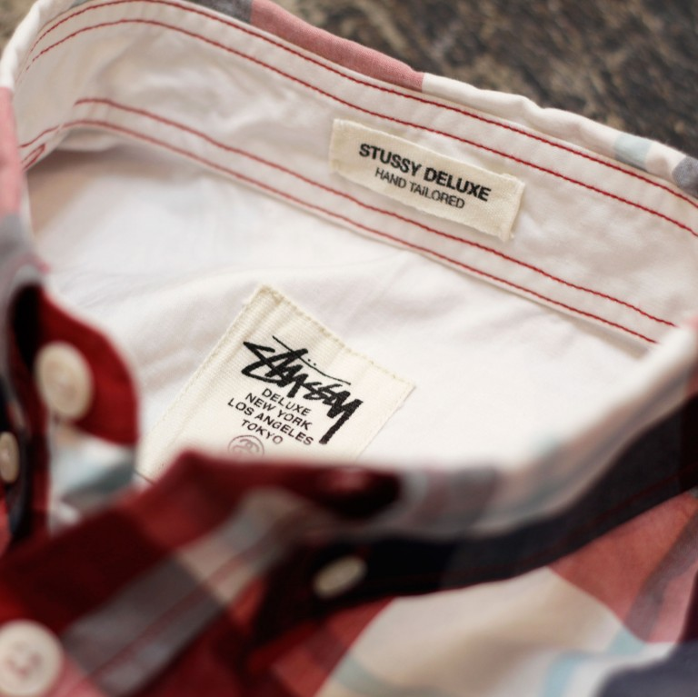 STUSSY DELUXE S/S B.D Madras Check Shirts
