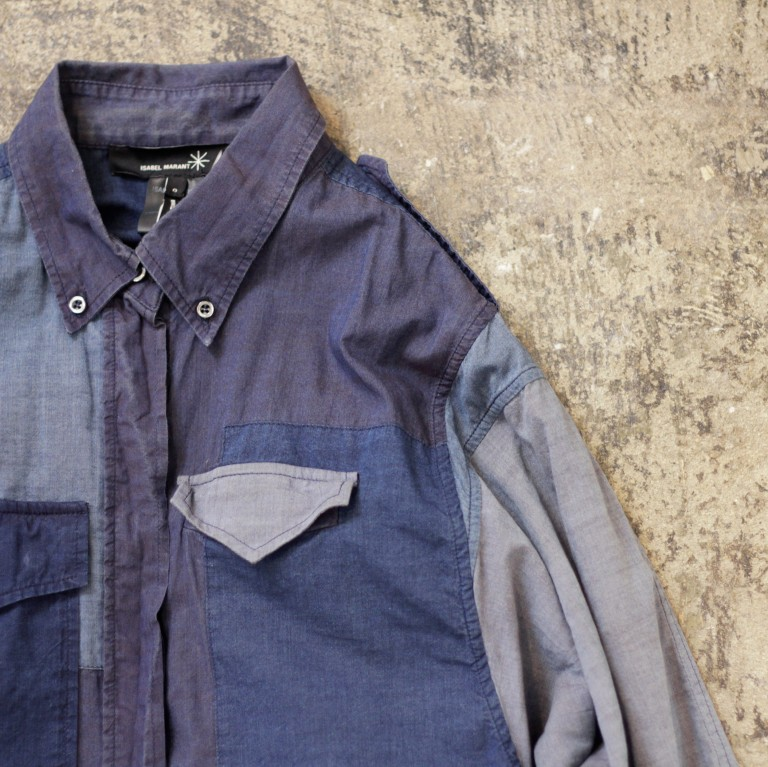 ISABEL MARANT Patchwork Denim Shirts