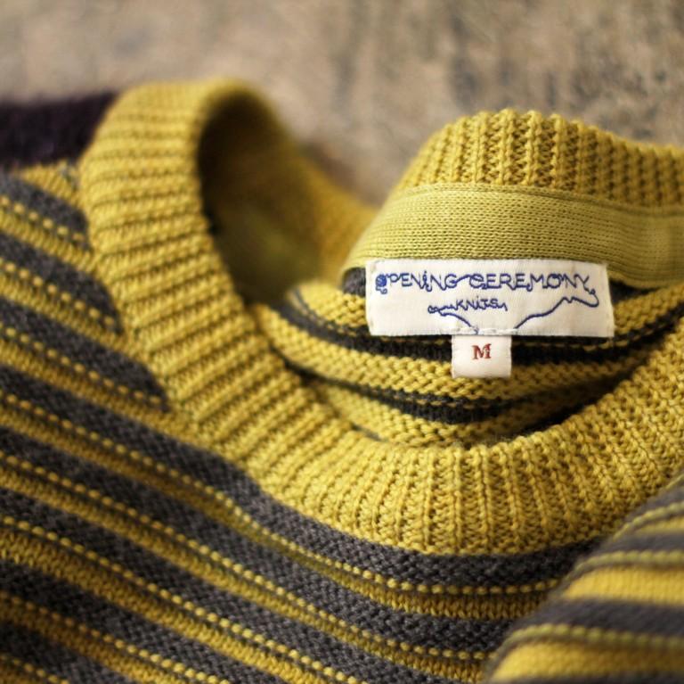 OPENING CEREMONY Border Mohair Short Knit