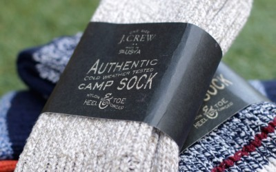 "J.CREW Camp Socks ""MADE IN USA"""