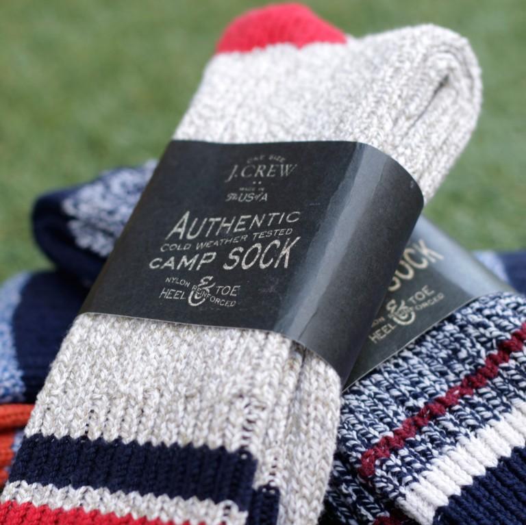 "J.CREW Camp Socks ""MADE IN USA"""