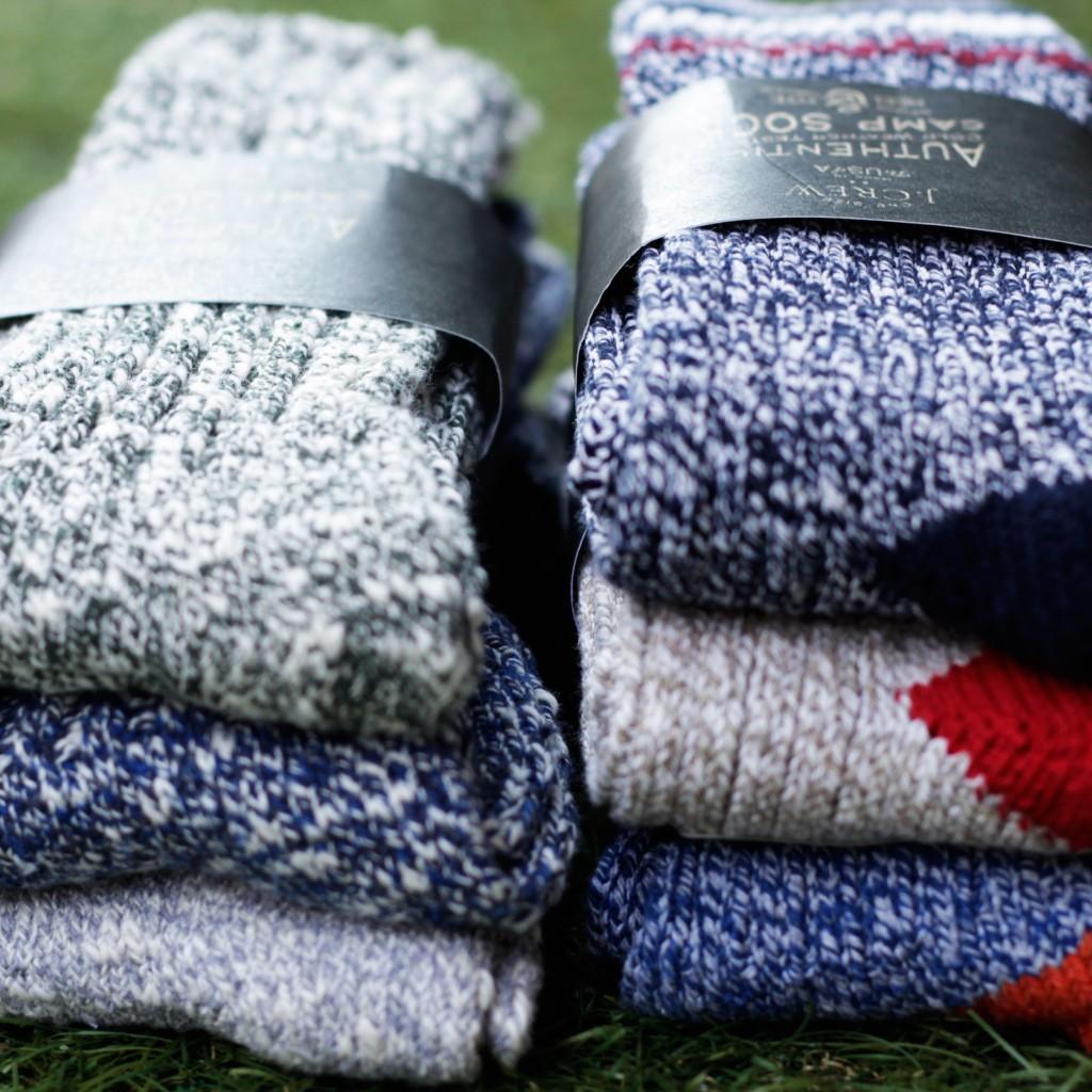 J.CREW Camp Socks