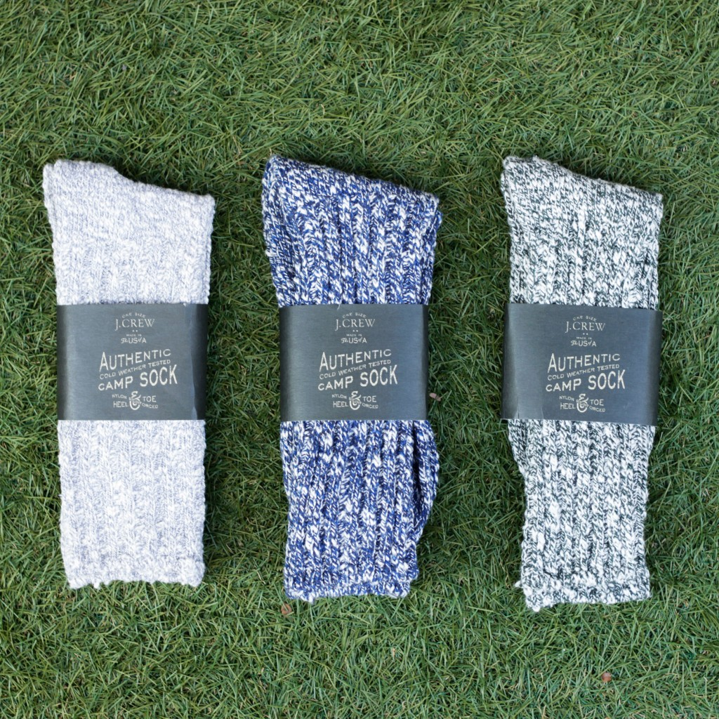 J.CREW Camp Socks