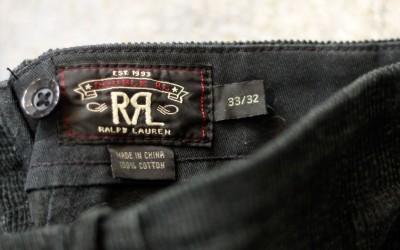 RRL Hayes Riding Corduroy Pant