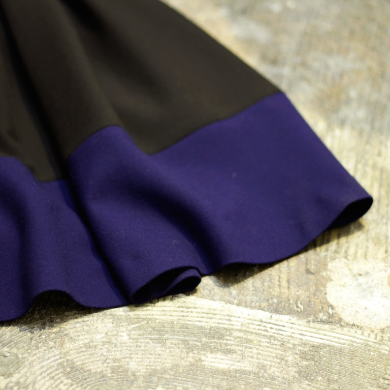 maje Bicolor Flared Skirt