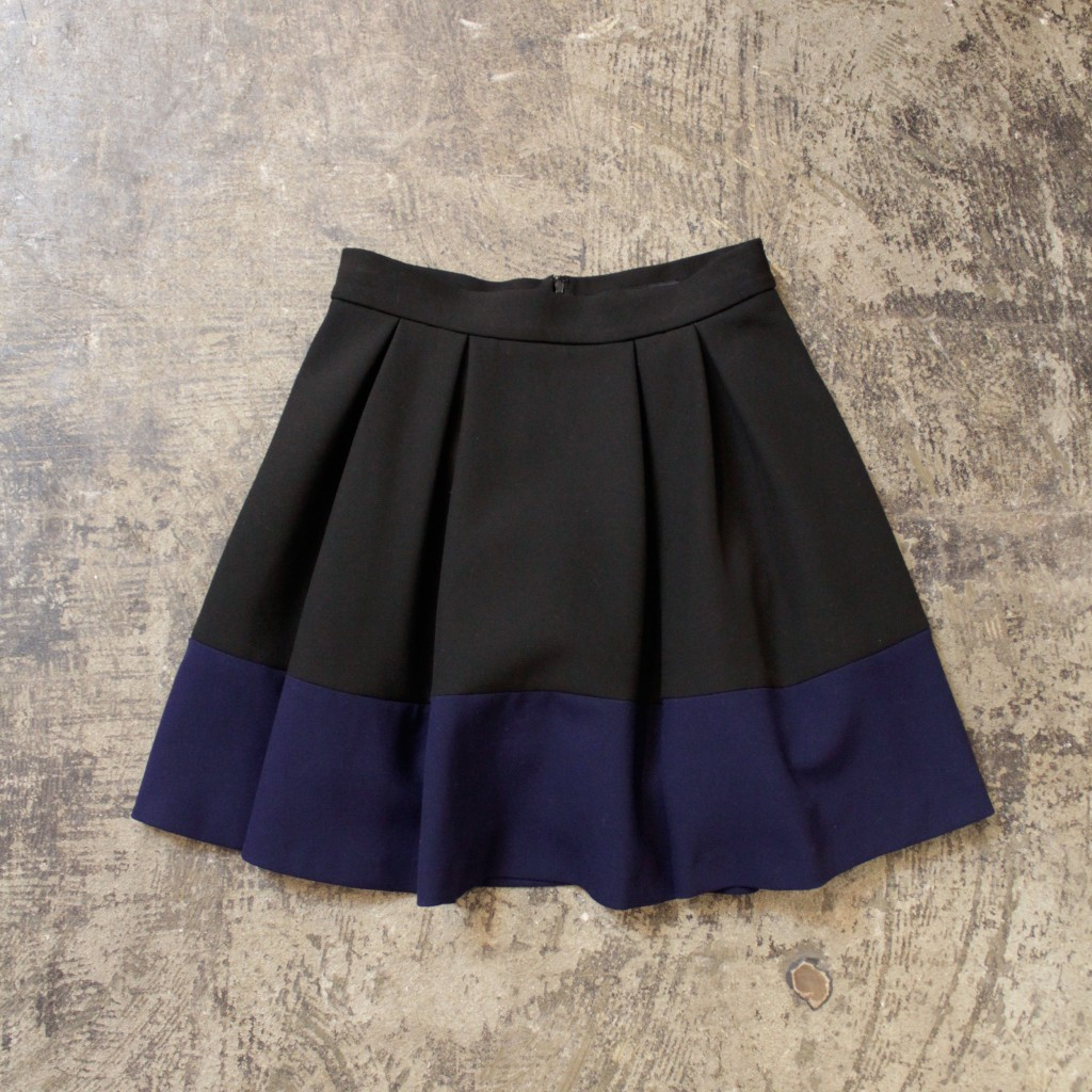 maje  Bicolor Flared Skirt