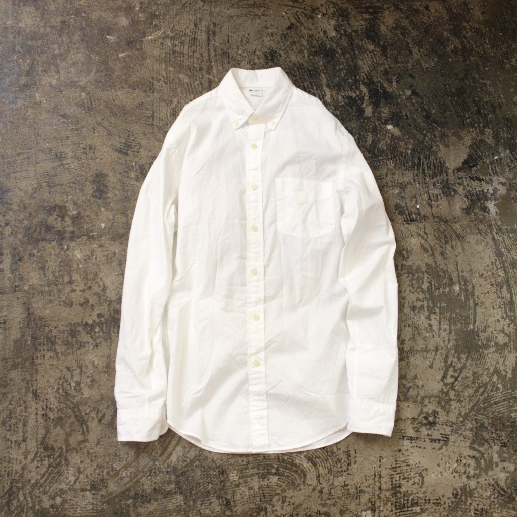J.CREW Sun Washed Oxford White Shirt