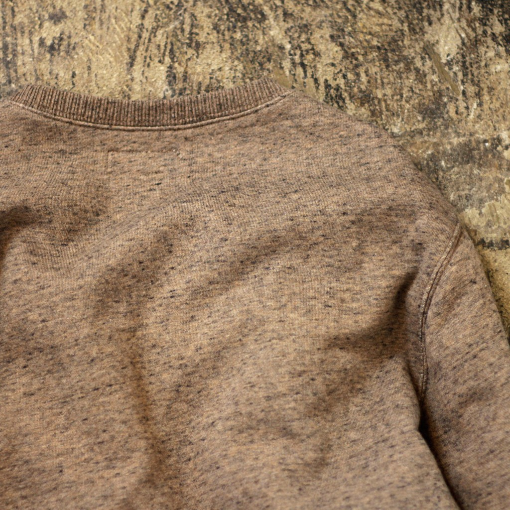 WALLACE & BARNES Brown Heathered Pocket Sweatshirts