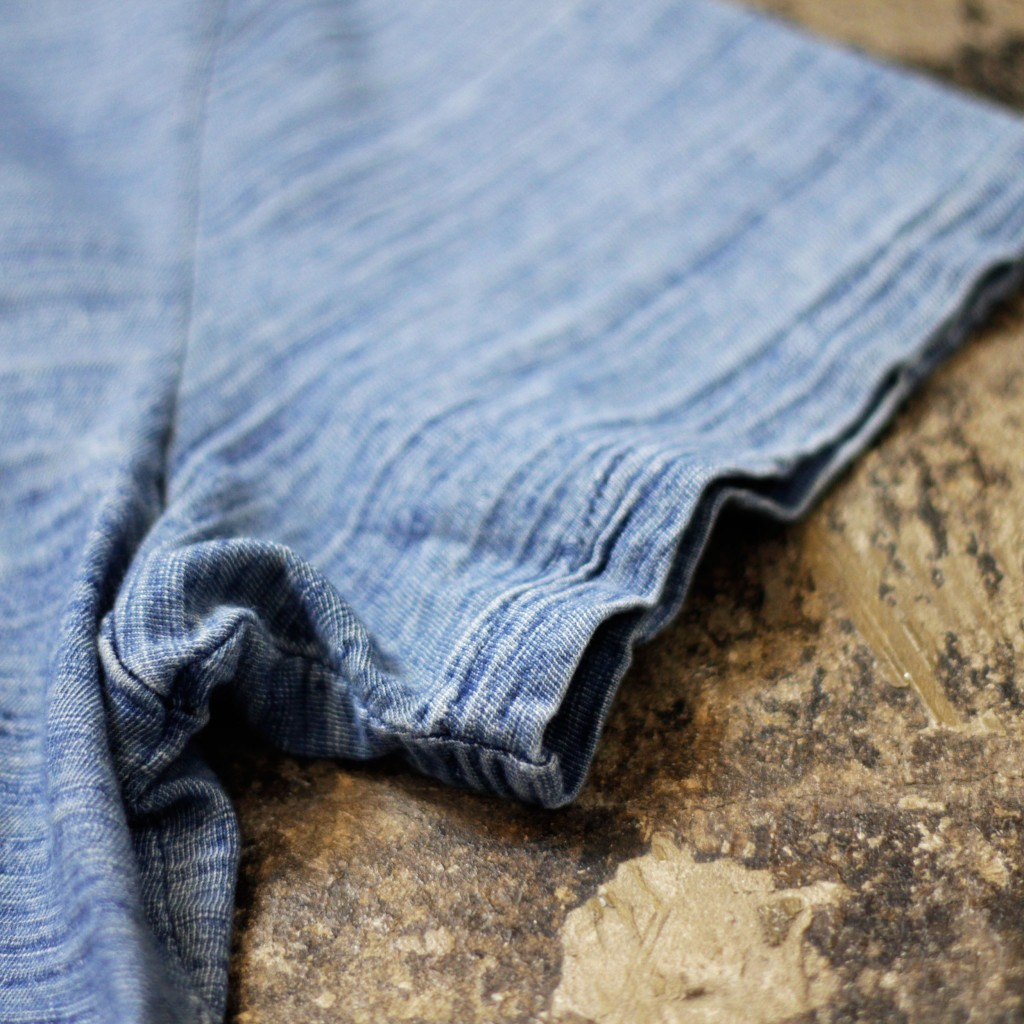 RRL Indigo Crew Neck Pocket T-Shirts