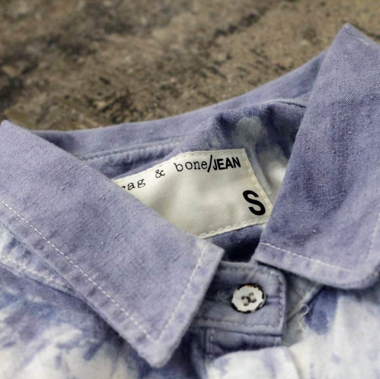 rag & bone Indigo Bleach Tie-Dye Shirt