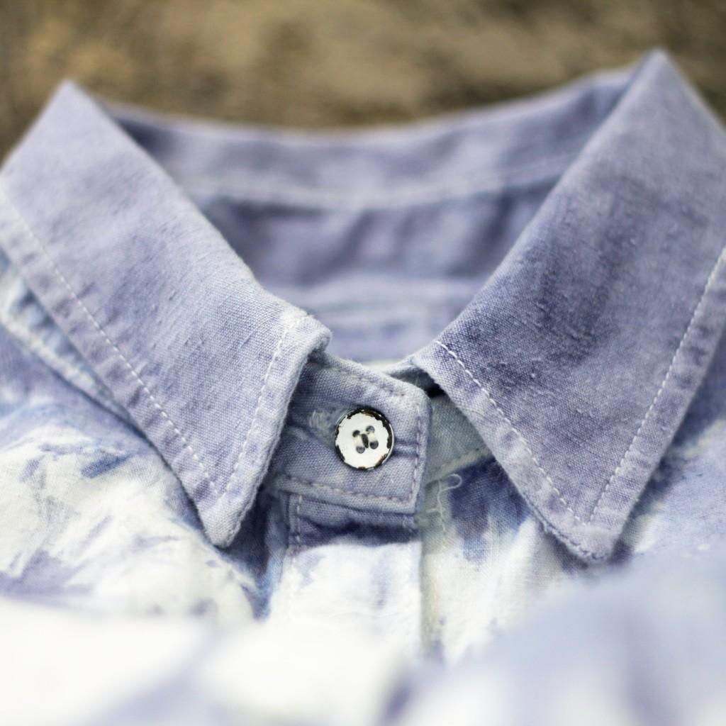 rag & bone Indigo Bleach Tie-Dye Shirt