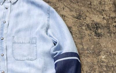 little white lies… Denim Dress Shirt