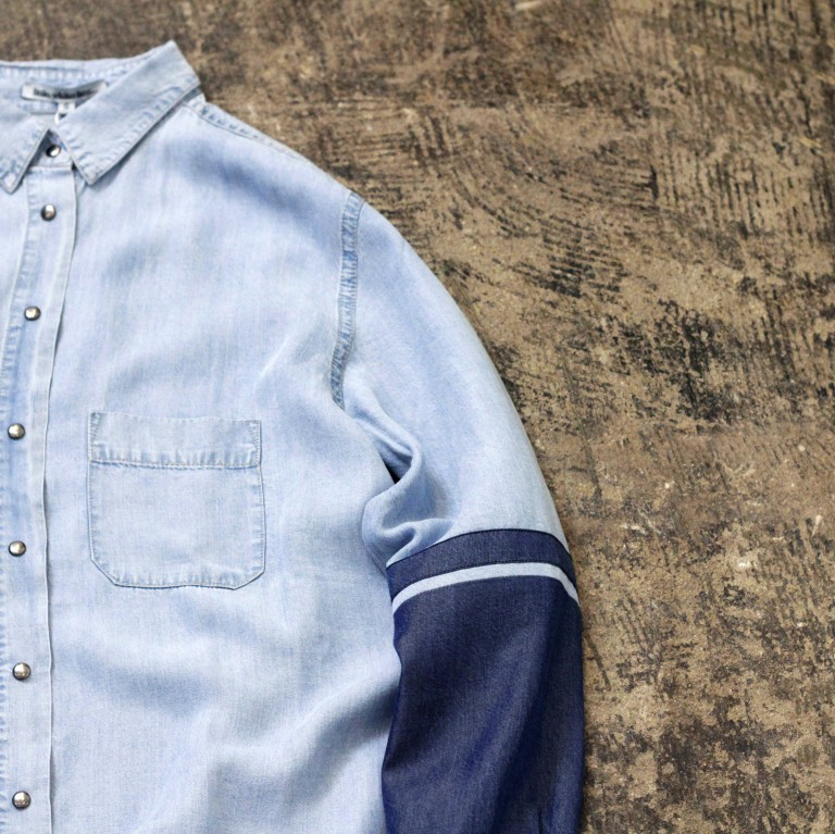 little white lies… Denim Dress Shirt