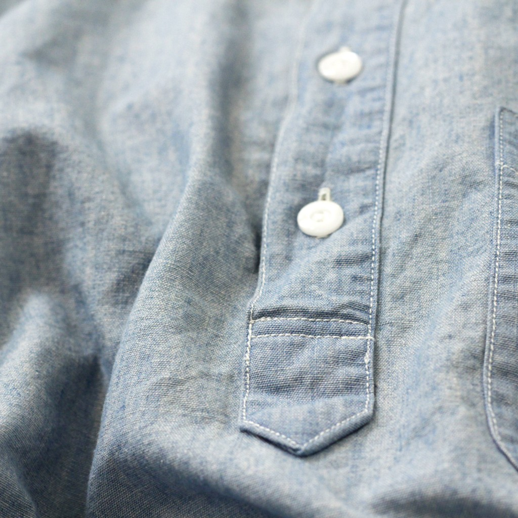 J.CREW Chambray Pull Over Shirt