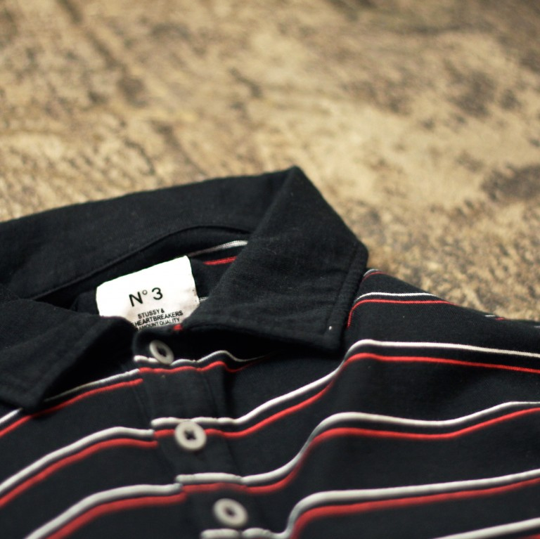 STUSSY & THE HEARTBREAKERS L/S Border Polo Shirts
