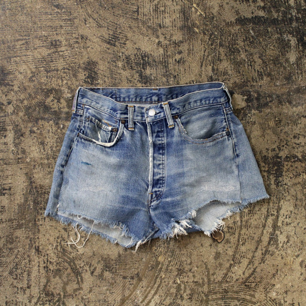 Levi's Vintage 501 66 Cut Off Denim Shorts