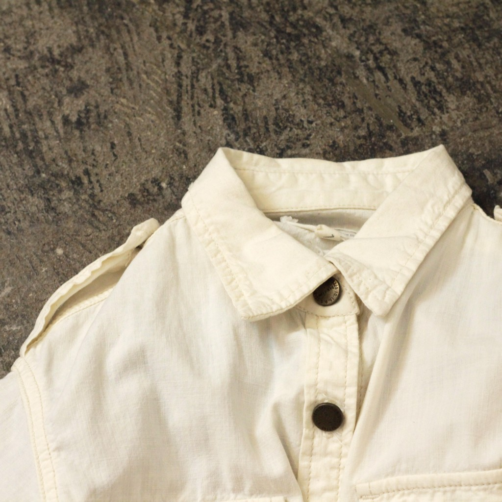 CURRENT/ELLIOTT Natural Chambray Shirt