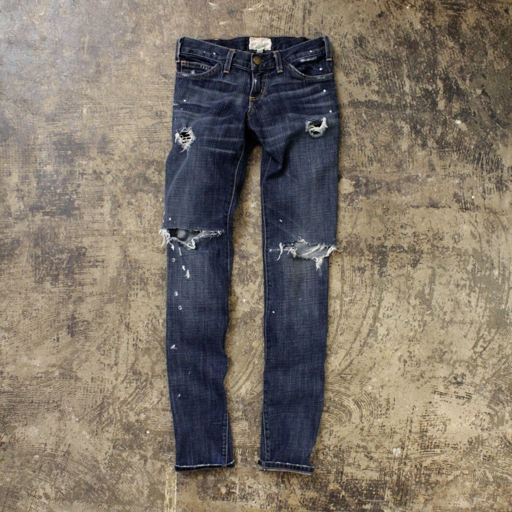 CURRENT/ ELLIOTT Paint Damage Denim
