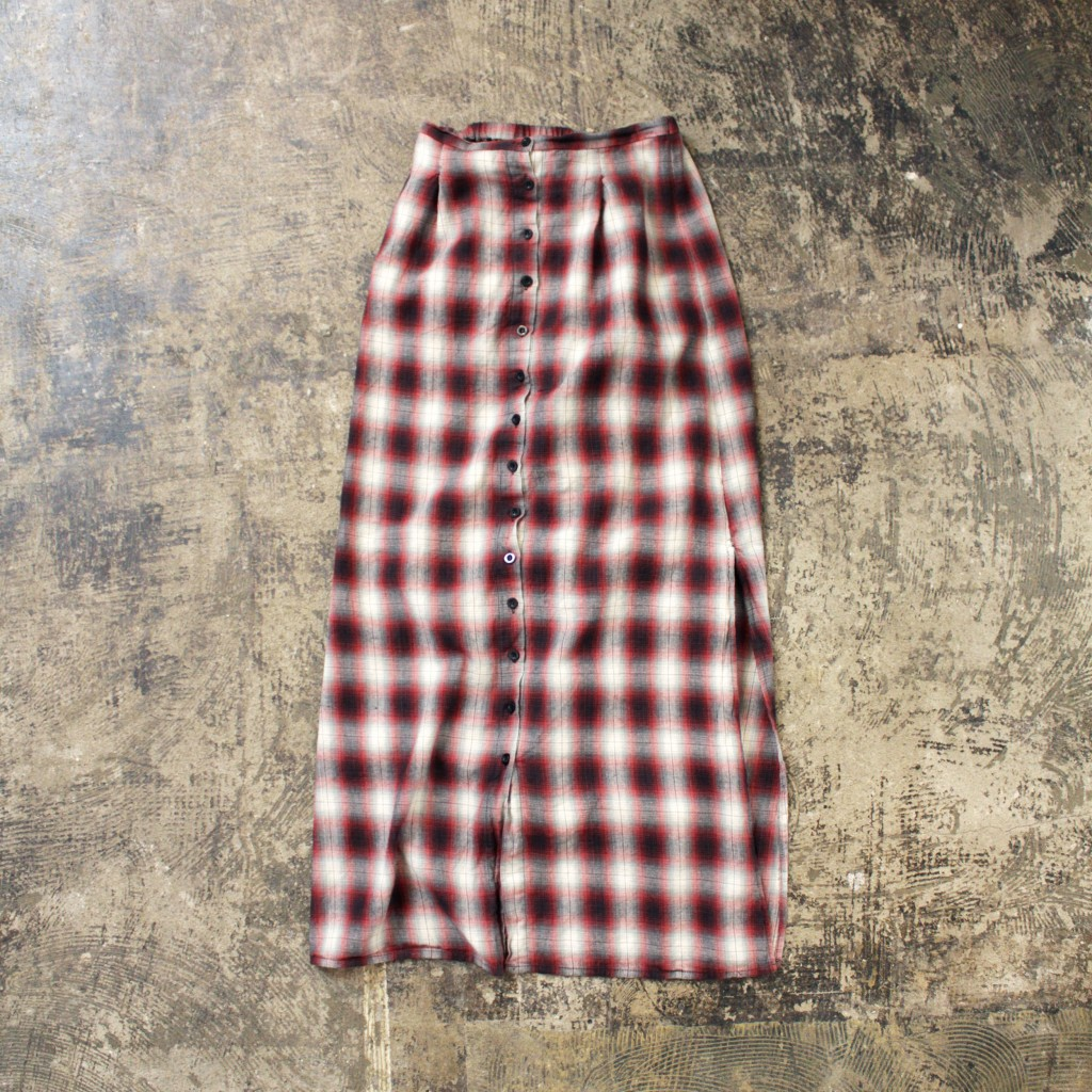 UNIF Omble Check Long Skirt