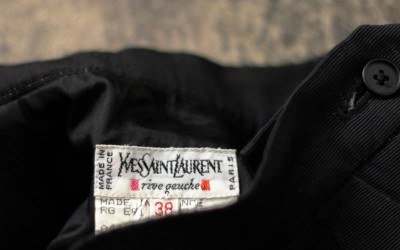 Yves Saint Laurent -rive gauche- Vintage Black Skirt