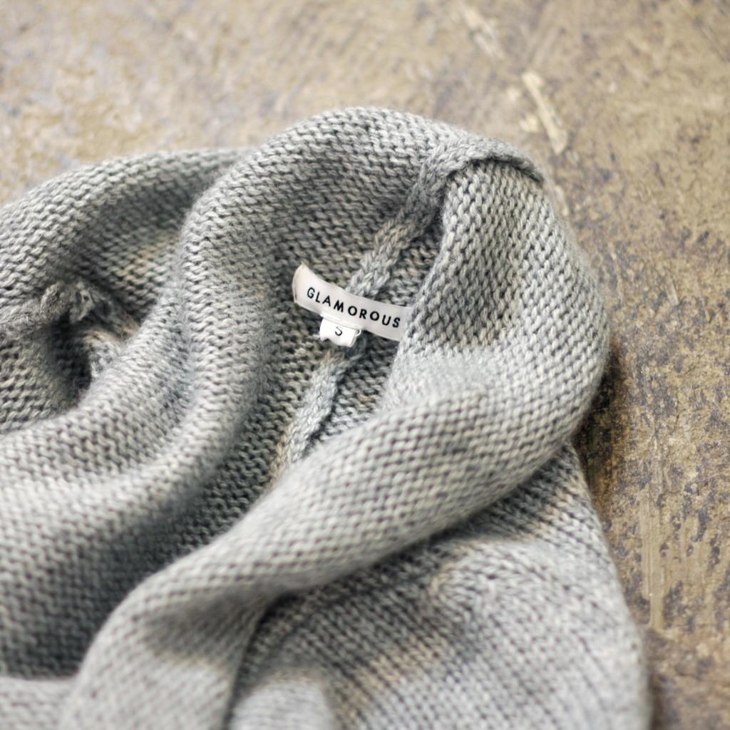 GLAMOROUS Fringe Knit Long Gown