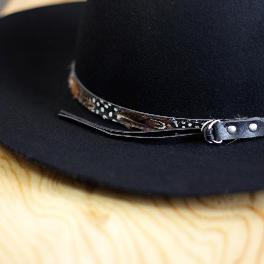 Feather Belt Wool Hat