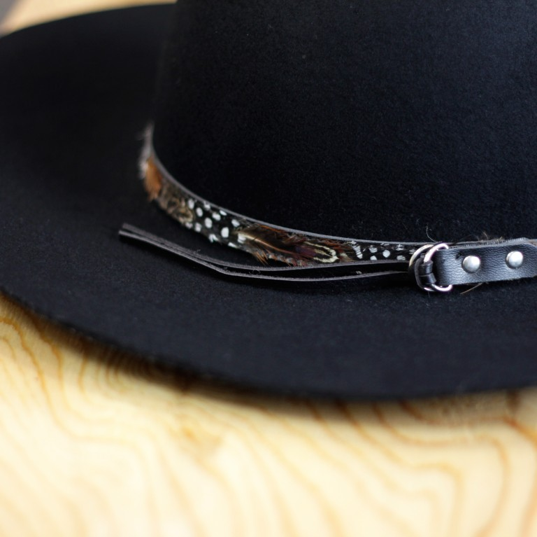 Feather Double Ring Wool Hat