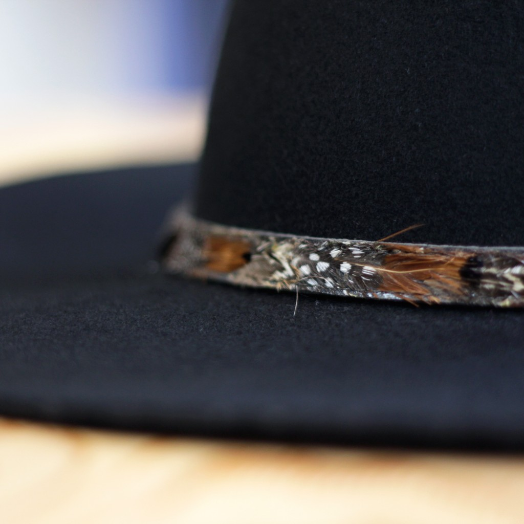 Feather Belt Wool Hat