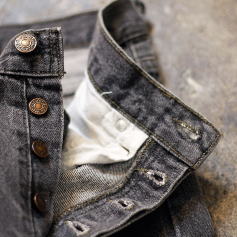 "Levi's 501 Black Denim ""made in U.S.A"""