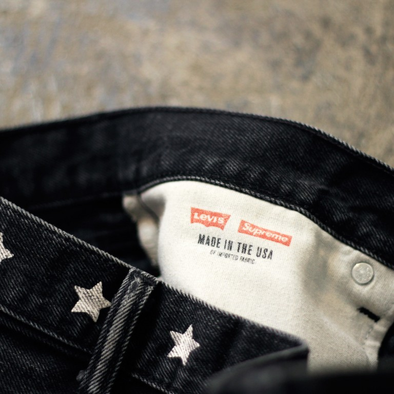 Supreme × LEVI'S 505 Black Denim 2011 F/W