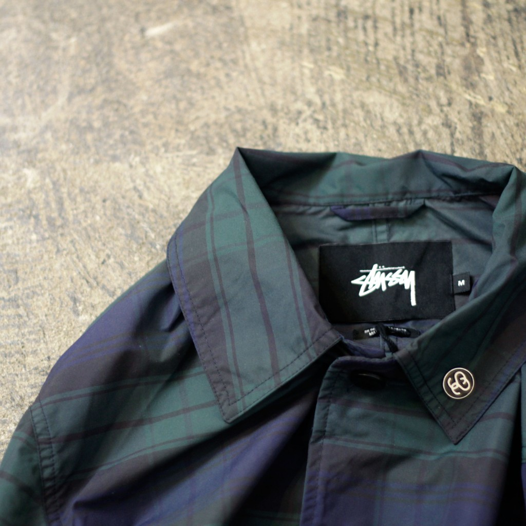 STUSSY Check Soutien Collar Coat