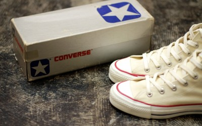 "CONVERSE 80′s Vintage All Star Hi ""DEAD STOCK With SILVER BOX"""