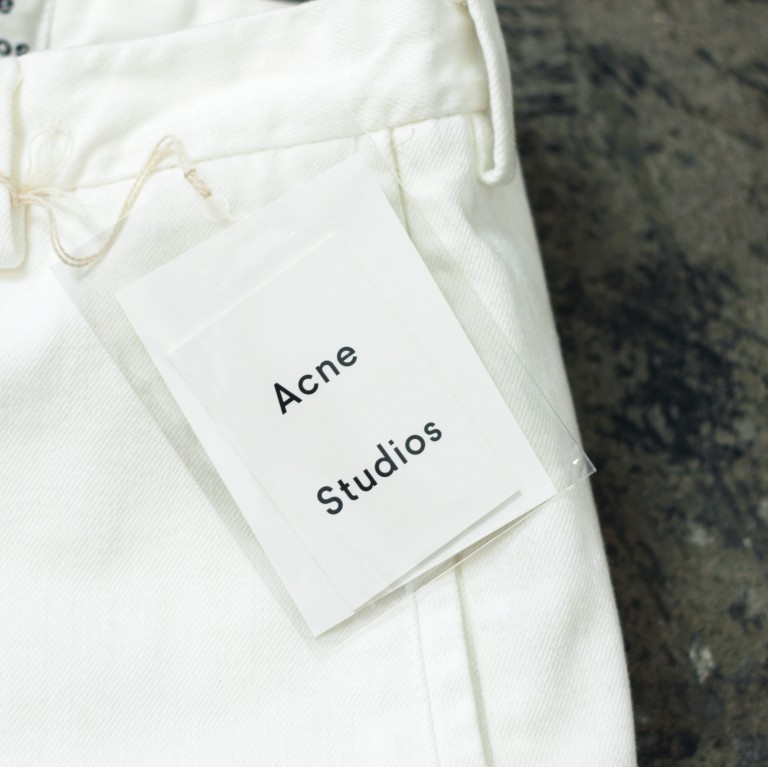 ACNE STUDIOS White Denim Shorts
