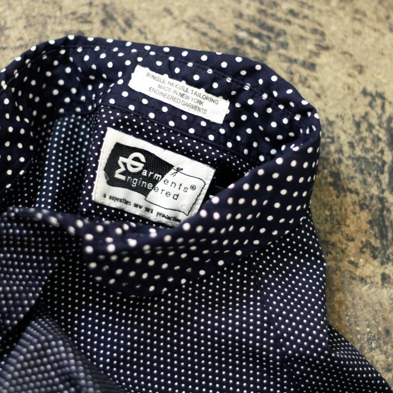 ENGINEERED GARMENTS Round Collar Dot Shirt