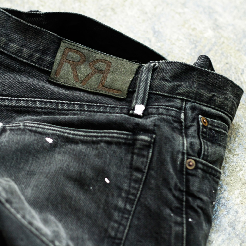 RRL Old 90's Painted Black Denim