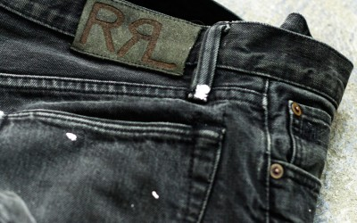 RRL Painted Selvedge Black Denim