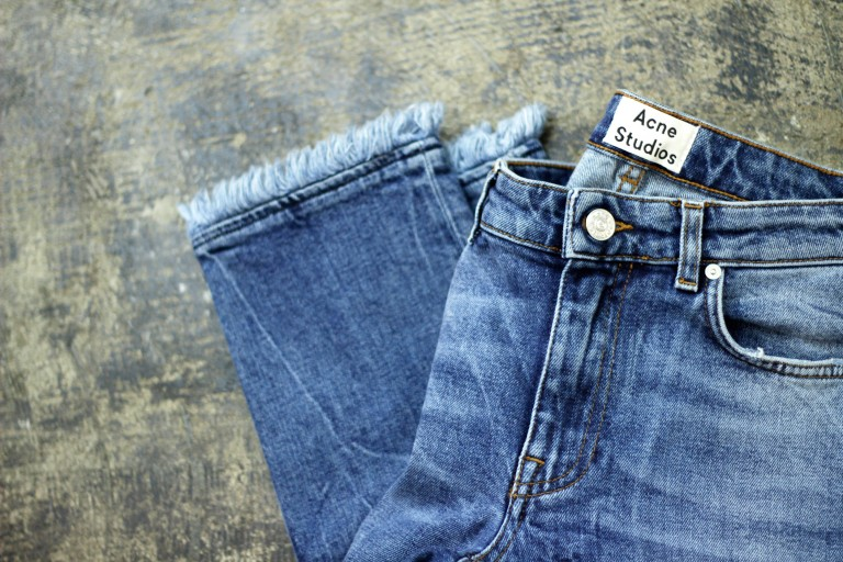 Acne Studios Fringe Blue Denim