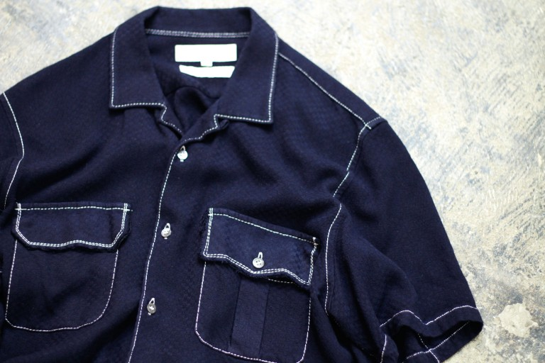 COMME des GARCONS SHIRT S/S Open Collar Shirt