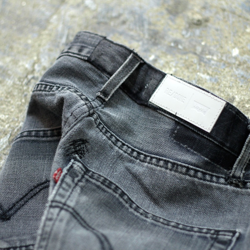 "RE/DONE Remake Black Denim ""The Elsa"""