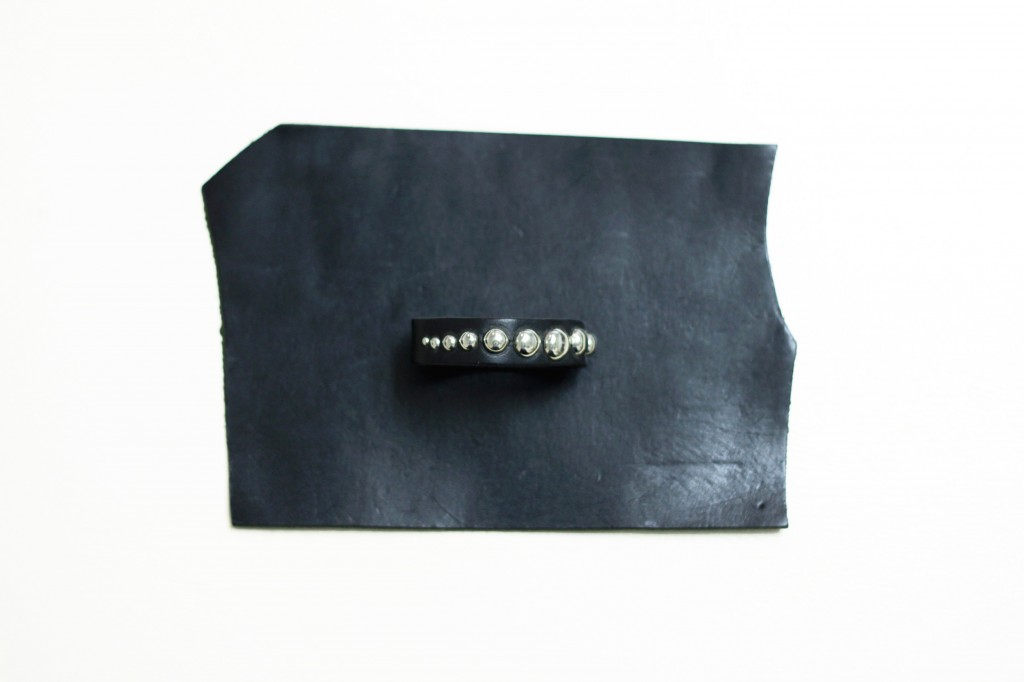 hand made studs leather