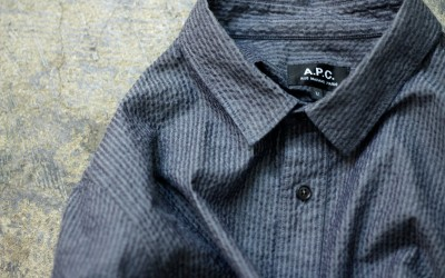 A.P.C. Seersucker Stripe Shirt